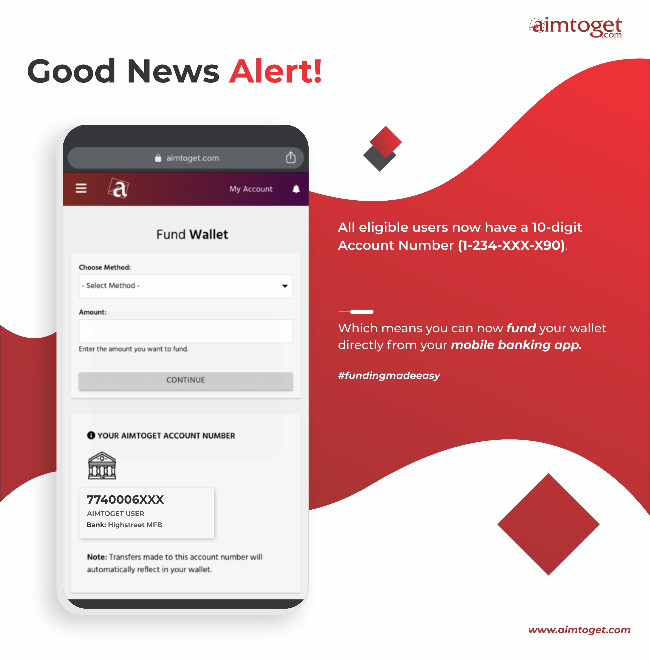 aimtoget account number